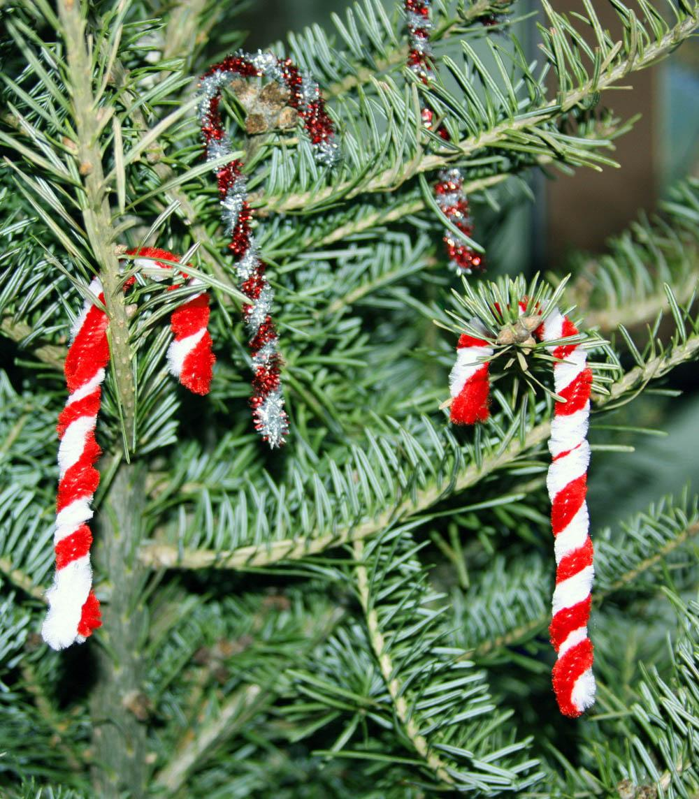 Chenille Candy Cane On Christmas