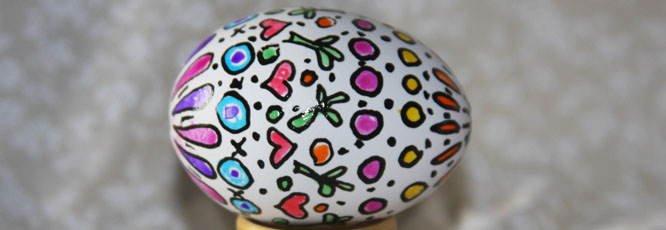 Draw Designs Gel Pen Easter Craft
