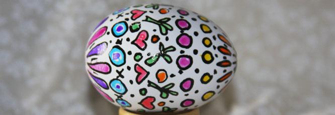 Glaze Gel Pen Easter Eggs