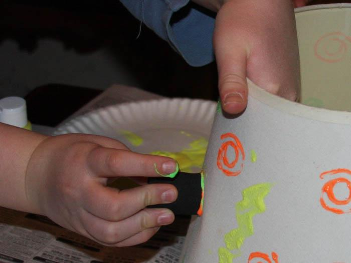 Glow In The Dark Lampshade Childrens Crafts