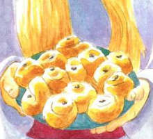 Saint Lucia Buns - Kids cooking recipe