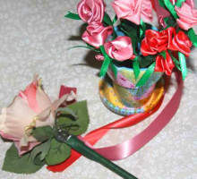 Ribbon Flower Pens Teacher Appreciation