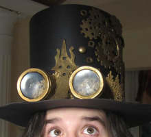 Make a paper steampunk hat