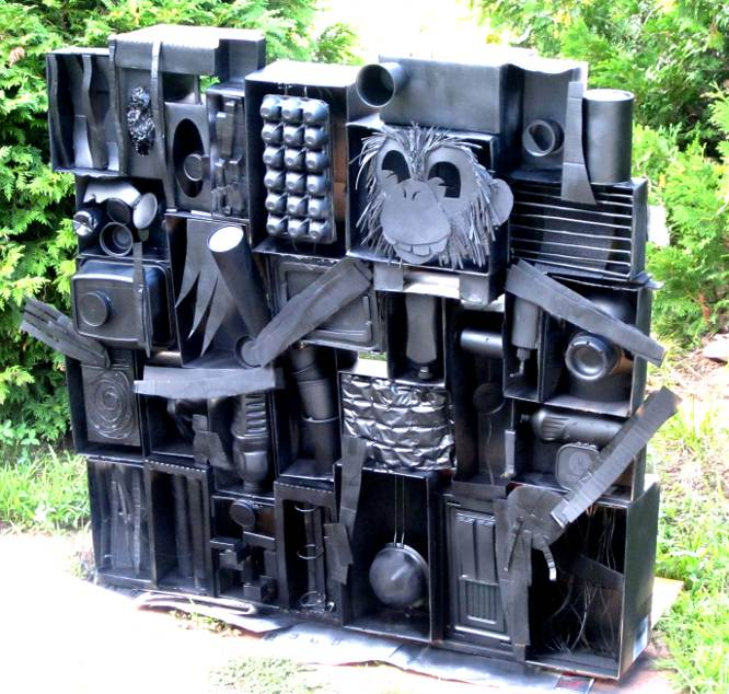 Louise Nevelson used wood for her wall sculptures    we used    Louise Nevelson Art Lesson