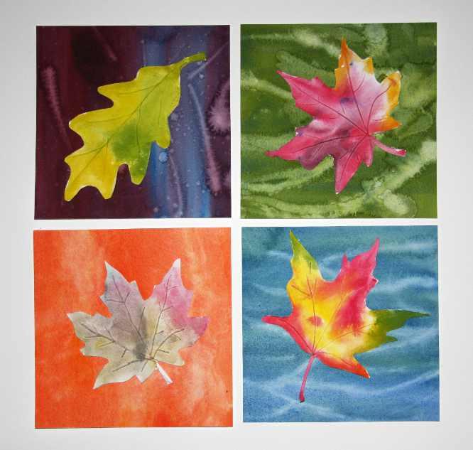 Watercolor Leaves - Children's Art Lesson