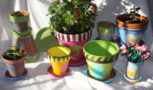 Hand Painted Flower Pots For Mother